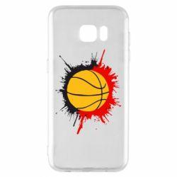 Чехол для Samsung S7 EDGE Баскетбольный мяч - FatLine