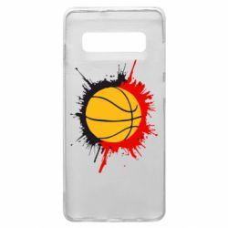 Чехол для Samsung S10+ Баскетбольный мяч