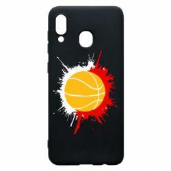 Чехол для Samsung A20 Баскетбольный мяч