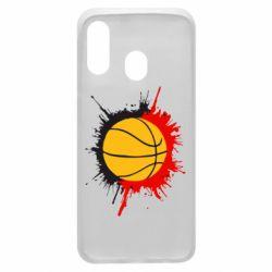 Чехол для Samsung A40 Баскетбольный мяч
