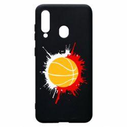 Чехол для Samsung A60 Баскетбольный мяч