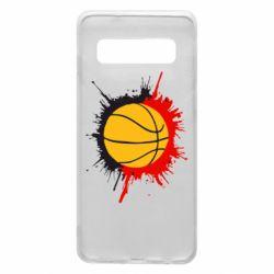Чехол для Samsung S10 Баскетбольный мяч