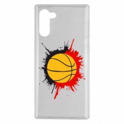Чехол для Samsung Note 10 Баскетбольный мяч