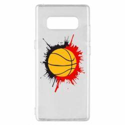 Чехол для Samsung Note 8 Баскетбольный мяч - FatLine