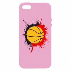 Чехол для iPhone5/5S/SE Баскетбольный мяч - FatLine
