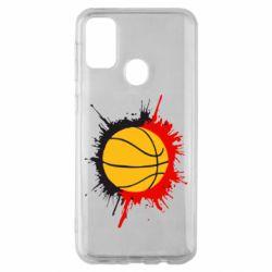 Чехол для Samsung M30s Баскетбольный мяч