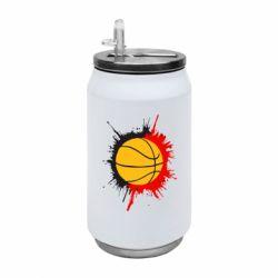 Термобанка 350ml Баскетбольний м'яч