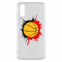 Чехол для Huawei P20 Баскетбольный мяч - FatLine