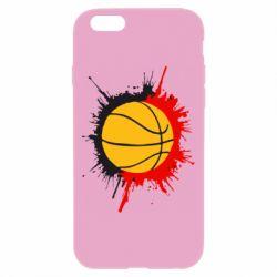 Чехол для iPhone 6/6S Баскетбольный мяч - FatLine