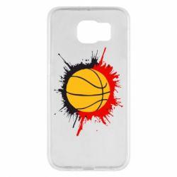 Чехол для Samsung S6 Баскетбольный мяч - FatLine