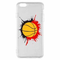 Чехол для iPhone 6 Plus/6S Plus Баскетбольный мяч - FatLine