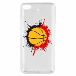 Чехол для Xiaomi Mi 5s Баскетбольный мяч - FatLine