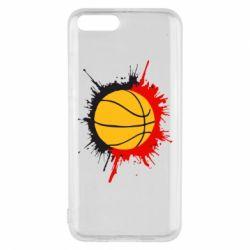 Чехол для Xiaomi Mi6 Баскетбольный мяч - FatLine