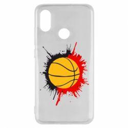 Чехол для Xiaomi Mi8 Баскетбольный мяч - FatLine