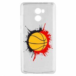 Чехол для Xiaomi Redmi 4 Баскетбольный мяч - FatLine