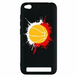 Чехол для Xiaomi Redmi 5a Баскетбольный мяч - FatLine