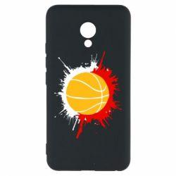 Чехол для Meizu M5 Баскетбольный мяч - FatLine