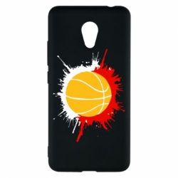 Чехол для Meizu M5c Баскетбольный мяч - FatLine