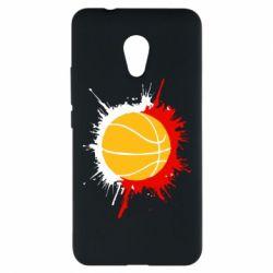 Чехол для Meizu M5s Баскетбольный мяч - FatLine