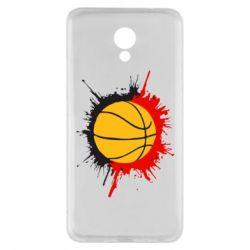 Чехол для Meizu M5 Note Баскетбольный мяч - FatLine