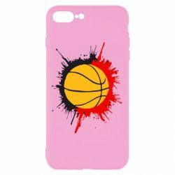 Чехол для iPhone 7 Plus Баскетбольный мяч - FatLine