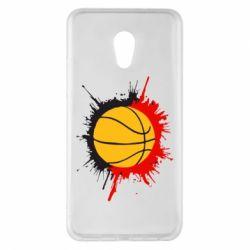 Чехол для Meizu Pro 6 Plus Баскетбольный мяч - FatLine