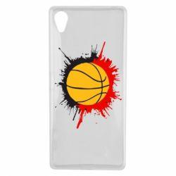 Чехол для Sony Xperia X Баскетбольный мяч - FatLine
