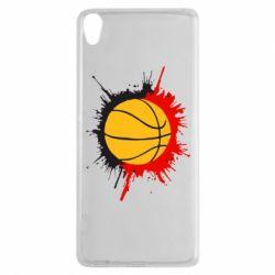 Чехол для Sony Xperia XA Баскетбольный мяч - FatLine