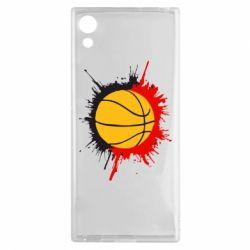 Чехол для Sony Xperia XA1 Баскетбольный мяч - FatLine