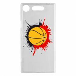 Чехол для Sony Xperia XZ1 Баскетбольный мяч - FatLine