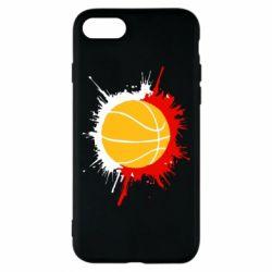 Чехол для iPhone 8 Баскетбольный мяч - FatLine