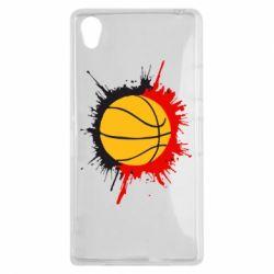 Чехол для Sony Xperia Z1 Баскетбольный мяч - FatLine