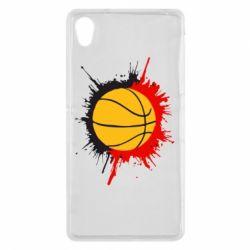 Чехол для Sony Xperia Z2 Баскетбольный мяч - FatLine