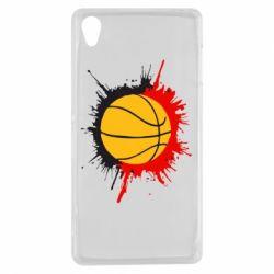 Чехол для Sony Xperia Z3 Баскетбольный мяч - FatLine