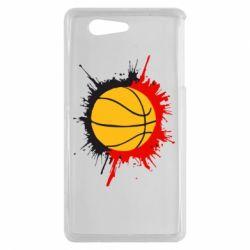 Чехол для Sony Xperia Z3 mini Баскетбольный мяч - FatLine