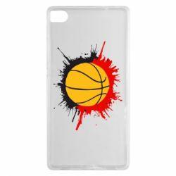 Чехол для Huawei P8 Баскетбольный мяч - FatLine