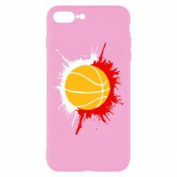 Чехол для iPhone 8 Plus Баскетбольный мяч - FatLine