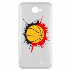 Чехол для Huawei Y7 2017 Баскетбольный мяч - FatLine