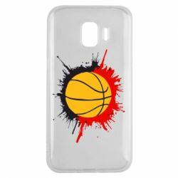 Чехол для Samsung J2 2018 Баскетбольный мяч