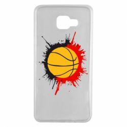 Чехол для Samsung A7 2016 Баскетбольный мяч - FatLine