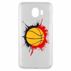 Чехол для Samsung J4 Баскетбольный мяч