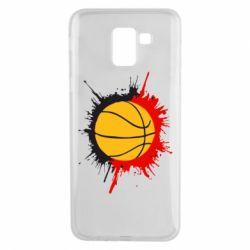 Чехол для Samsung J6 Баскетбольный мяч