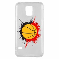 Чехол для Samsung S5 Баскетбольный мяч - FatLine