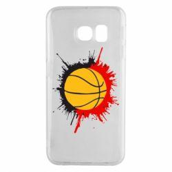 Чехол для Samsung S6 EDGE Баскетбольный мяч - FatLine