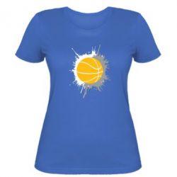 Женская футболка Баскетбольный мяч - FatLine