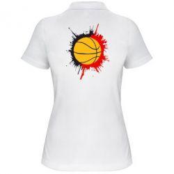 Женская футболка поло Баскетбольный мяч