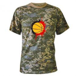 Камуфляжная футболка Баскетбольный мяч - FatLine