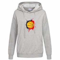 Женская толстовка Баскетбольный мяч - FatLine