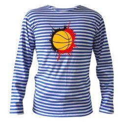 Тельняшка с длинным рукавом Баскетбольный мяч - FatLine