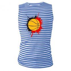 Майка-тельняшка Баскетбольный мяч - FatLine